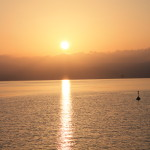 Sonnenaufgang am See Genezareth